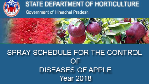 HIMACHAL – SPRAY SCHEDULE FOR THE CONTROL OF DISEASES OF APPLE Year 2018