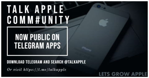 Talk Apple Comm#UNITY is Now Public on TELEGRAM Apps