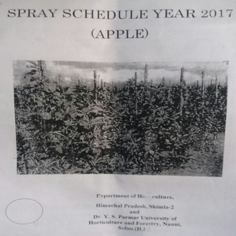 Apple Spray Schedule – 2017 |  Department of Horticulture, Himachal Pradesh,