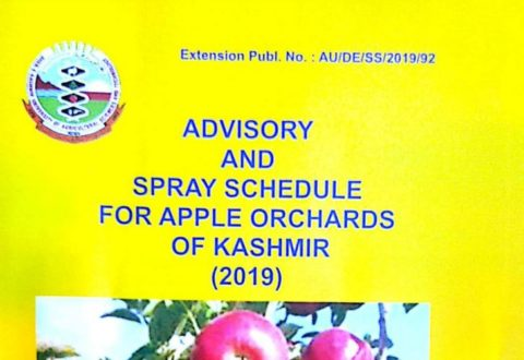 SKUAST Kashmir -Apple spray schedule 2019 kashmir