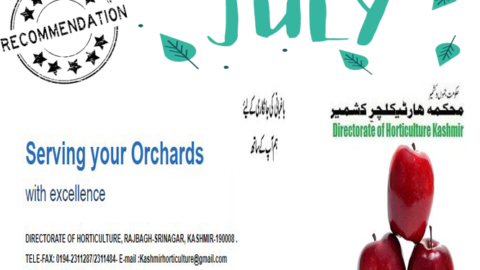 JULY | Monthly Recommendation For Horticulture Kashmir | Dir. of Horticulture Kashmir