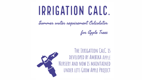 Irrigation Calc. ( Water Requirement Tool ) – Ambika Apple Nursery